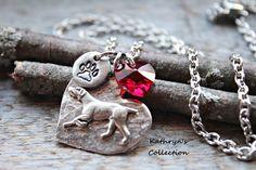 Weimaraner Necklace, Valentine's Day Gift, Be My ValenWeim, Gift from Dog, Dog MOM,