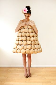 Croquembouche = coffee filters, tissue paper, and a hoop skirt | 19 Brilliant Ways To Dress Like Food For Halloween