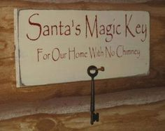 This might be helpful if you have a curious child who can not figure out how Santa gets in without a chimney