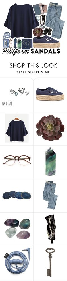 """Senza titolo #523"" by fedeandrer ❤ liked on Polyvore featuring Superga, Wildfox, Anna New York, Wrap, Aesop and Thirstystone"
