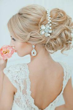 21 Glamorous Wedding Updos for 2018 Diy Wedding Hair, Elegant Wedding Hair, Glamorous Wedding, Perfect Wedding, Wedding Ideas, Loose French Braids, Loose Updo, Unique Wedding Hairstyles, Elegant Hairstyles