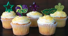 masquerade decoration ideas with vases | Party Ideas by Mardi Gras Outlet: Mardi Gras Cupcake Toppers