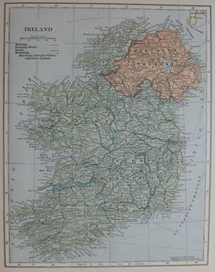 1931 IRELAND Map of Ireland Vintage Collectible Map Home Decor Ireland Gallery Wall Art 6695 by plaindealing on Etsy