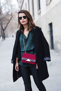 Leather_Trousers-Black_Coat-Gree_Shirt-Burgundy-Outfit-Street_style-14 by collagevintageblog, via Flickr