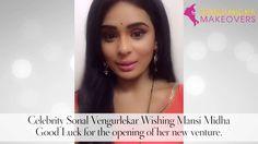 Celebrity Sonal Vengurlekar wishing Mansi Midha Good Luck for the Opening of her new venture.
