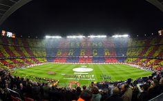 El estadio en Barcelona.