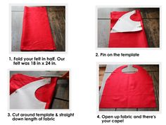 No Sew Superhero Capes (FREE Template) my granddaughter is always wanting me to use a towel to make her a cape...this looks super easy!