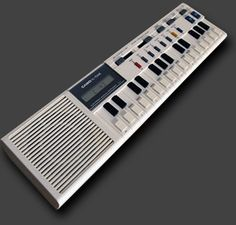 Casio VL-1 – One of the tiniest synths. Sequenzer, drum machine and calculator included.