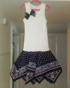 Cute Bandana Dress/ Western Wear/ Adorable