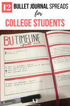 12 Bullet Journal Spreads for College Students – Bullet journal Bullet Journal Assignment Tracker, Bullet Journal Spreads, Bullet Journal Contents, Bullet Journal Layout, Bullet Journal Inspiration, Journal Ideas, Bullet Journal For Beginners, Bullet Journal Hacks, Bullet Journal How To Start A