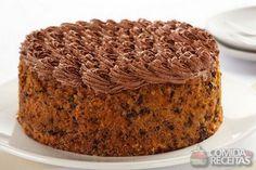 Receita de Bolo de cenoura, nozes e chocolate em receitas de bolos, veja essa e outras receitas aqui!