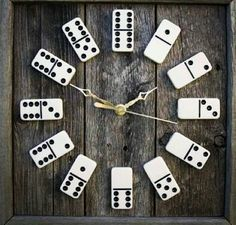 Awesome Looking Domino Clock