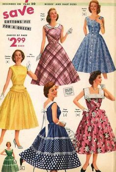 Vintage Chic - National Bellas Hess, 1957 - Petticoat dresses and skirts - 60 Fashion, Fashion History, Retro Fashion, Fashion Dresses, Womens Fashion, 1950s Fashion Women, Club Fashion, Vintage Fashion 1950s, Vintage 1950s Dresses