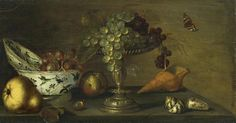 Gillis Gillisz de Bergh, STILL LIFE WITH GRAPES, SHELLFISH AND PEAR, Auction 969 Old Masters, Lot 1061