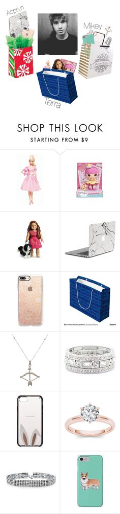 """Happy Holidays"" by caligirl199 ❤ liked on Polyvore featuring Mattel, Lalaloopsy, Casetify, Feathered Soul, Sole Society, Kate Spade, Bling Jewelry, Corgi, men's fashion and menswear"