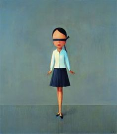 Liu Ye -   Composition with Black, White and Grey