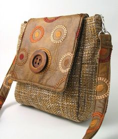 faux leather bag- backpack converts to messenger bag - tapestry tote bag-  cross body  purse- sling bag on Etsy, $108.10 CAD