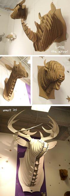 My first purchase from High Point Furniture Market - a giant deer from Cardboard Safari - love it! Kristina Crestin Design_Cardboard deer assembly #cardboardsafari, #deerhead, #hpmkt