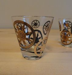 wheel shot glasses. {steampunk?}