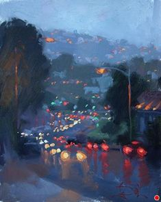 Annual Laguna Beach Plein Air Invitational, Jennifer Diehl, Laguna Lights b. - Annual Laguna Beach Plein Air Invitational, Jennifer Diehl, Laguna Lights by Jennifer Diehl Oil - Art Inspo, Kunst Inspo, Painting Inspiration, Landscape Art, Landscape Paintings, Landscapes, Impressionist Landscape, Contemporary Landscape, Easy Paintings