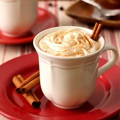 Coffee meets hot chocolate in this Mexican Spiced Mocha. The cinnamon and chili powder give it a nice kick to help wake you up.