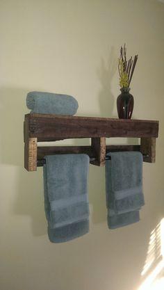 Rustic Bathroom Towel Rack