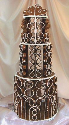 30. Annual Sugar Art & Cake Competition/San Diego Traditional Hungarian Wedding Cake #wedding #unique #gift