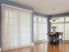 Sheer Vertical Blinds by Comfortex look like drapery but function like a blind - the best of both worlds! #drapery