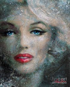 Marilyn Monroe Painting - Mm Frozen Red by Angie Braun Marilyn Monroe Wallpaper, Marilyn Monroe Tattoo, Marilyn Monroe Painting, Marilyn Monroe Quotes, Marylin Monroe, Norma Jeane, Pics Art, Portrait Art, Old Hollywood