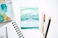Shark Week Greeting Card by StripedCatStudio on Etsy