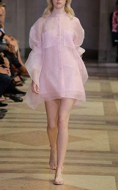 Collarless Sheer Button Down by Carolina Herrera for Preorder on Moda Operandi