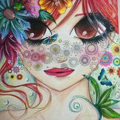 Ah,que linda!Quanto amor nesse colorido da @allynneasfa ?  belíssimo -  Entre flores e borboletas a beleza se encontra!!!! . . . ✔ Use #jardimdascores nos marque ou envie direct com sua foto  . . . #jardimsecretotop #jardimsecreto #jardimsecretofans #jardimsecretolovers  #florestaencantada #florestaencantadatop #esrarengizbahçe #livro #livrodecolorir #secretgarden #enchantedgarden #Regrann