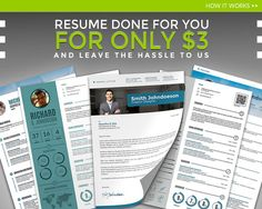 Resume Template Editing : Resume done for you for only USD 3 - Resume template and cover letter template