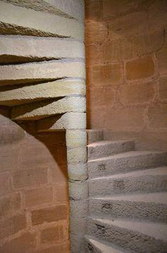 Escalera de Caracol del Castillo de Mora de Rubielos, Teruel, España