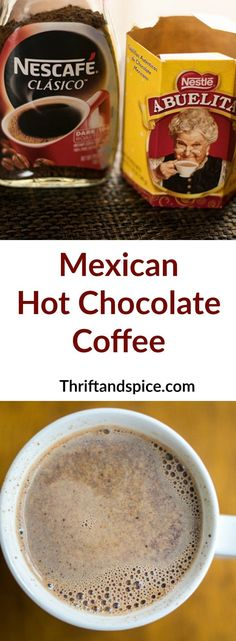Hot Chocolate Coffee mexican hot chocolate coffee is a delicious combination of your two favorite things, chocolate and coffee!mexican hot chocolate coffee is a delicious combination of your two favorite things, chocolate and coffee! Chocolate Abuelita, Hot Chocolate Coffee, Chocolate Caliente, Mexican Hot Chocolate, Hot Chocolate Recipes, Chocolate Chocolate, Chocolate Brownies, Chocolate Cupcakes, Mexican Coffee Recipe
