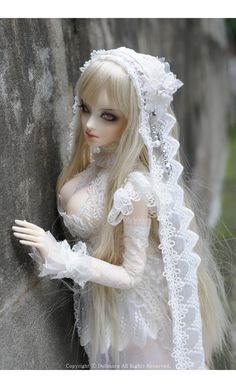 Beautiful. The Lace Is So elegant. And Its So White Like Snow, Shes A Bit Bodacious THo... LOL