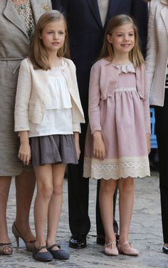 Infanta Leonor, Princess of Asturias with her little sister Infanta Sofia of Spain.