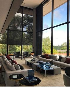 Stunning Cozy Living Room Design Ideas – My World Dream Home Design, Modern House Design, Home Interior Design, Interior Architecture, Cozy Living Rooms, Living Room Furniture, Living Room Decor, Furniture Nyc, Sala Grande
