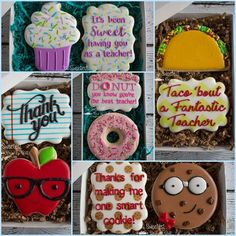 Nancy Kidder (@the.sweetest.one.of.all) Teacher Appreciation Cookie Sets