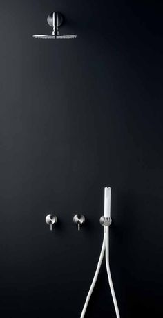 Black shower design || Milo + Free Ideas shower and taps by CEA Design.