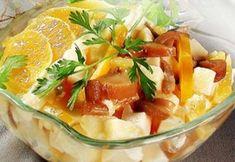 Грибной салат с апельсином