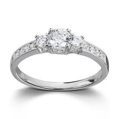 Populær sølvring med hvite cubic zirkonia. Dette er vår bestselger! Engagement Rings, Jewelry, Fashion, Ring, Enagement Rings, Moda, Jewels, Fashion Styles, Schmuck