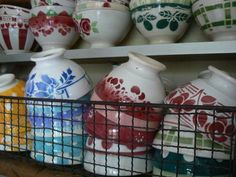 More French airbrushed ceramics