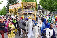 The local Sikh Temple pulled on the street during Vaisakhi Parade in Vancouver, Canada. Picture taken on: April 16th, 2016