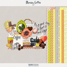 Quality DigiScrap Freebies: Morning Coffee full kit freebie from Sahin Designs