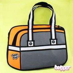 2D Cartoon Handbag (model 3)
