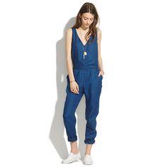 Madewell - Indigo Linen Jumpsuit