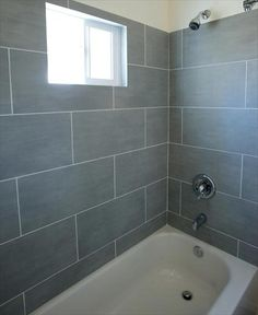 BuildDirect – Color Body Porcelain Tile - Exclusive Collection - Made in USA – Shady - Bathroom View