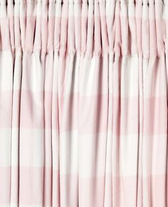 Oxford Check Pink Ready Made Blackout Curtains