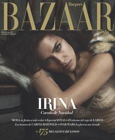 Portada diciembre 2015 de Harper's Bazaar España con Irina Shayk.